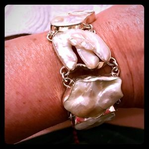Mother of pearl and 9.25 bracelet